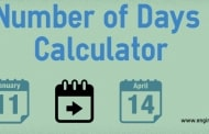 Number of Days Calculator