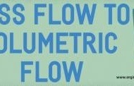 Mass Flow to Volumetric Flow Calculator