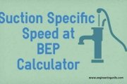 Suction Specific Speed Calculator at BEP - Online Calculator