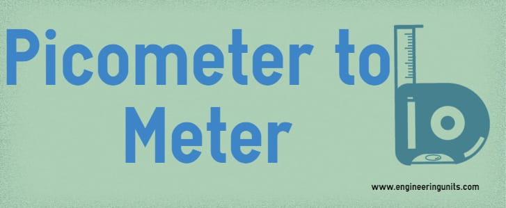picometer to meter