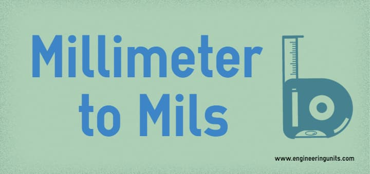 millimeter to mil / mm to mil