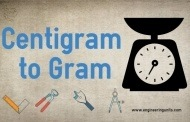 Centigram to Gram Conversion (cg to g) Online converter.