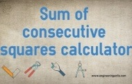 Sum of consecutive squares calculator online