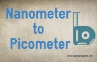 Nanometer to picometer Conversion (nm to pm) Online converter.