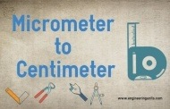 Micrometer to Centimeter (µm to cm) online converter