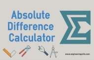 Absolute Difference Calculator