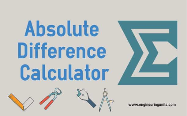 Absolute Difference Calculator - online calculator