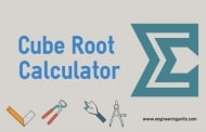 Cube Root Calculator - Online Calculator -