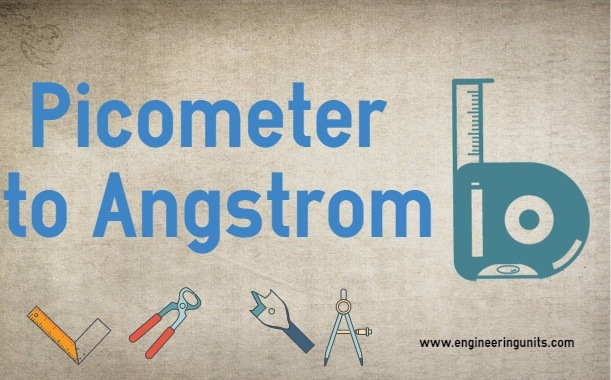 Picometer to Angstrom ONLINE CONVERTER