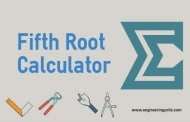 Fifth Root Calculator