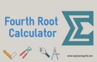 Fourth Root Calculator Online
