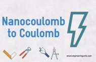 Nanocoulomb to Coulomb conversion calculator (nC to C)