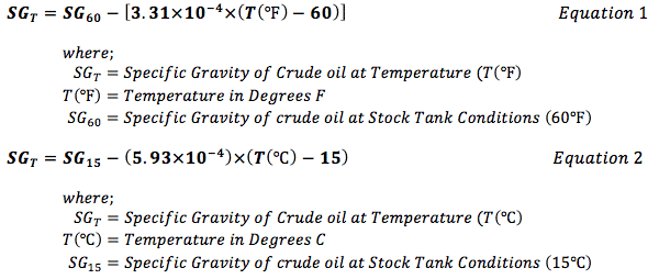 api gravity temperature correction  calculator engineering units