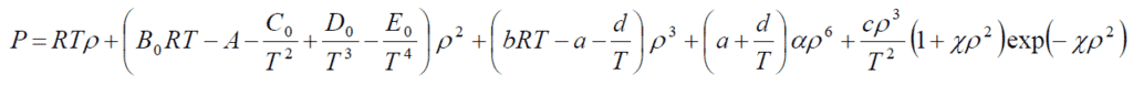 Webb-Rubin equation modified by starling: